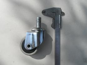 Kółko meblowe fi 58 mm z trzpieniem obrotowym