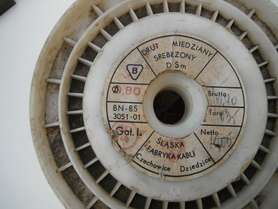 Drut miedziany srebrzony DSm 0,8 mm na metry lub cała szpula