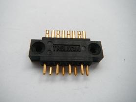 Złącze 8 pin pozłacane TRELEC.M lutowane na kabel
