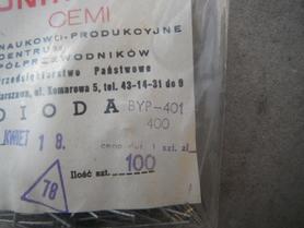 Dioda prostownicza BYP401 400 Unitra Cemi 1A 400V