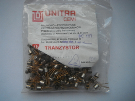 BC107 Tranzystor Unitra Cemi obudowa TO18 bc 107