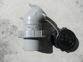 Wtyczka odbiornikowa metalowa 3P+Z IP57 16A 6h/380V Nakło