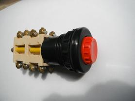 Przycisk sterowniczy N4-2 C czerwony podświetlany 4 NO 4 NC