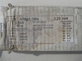 Drut do aluminium AlMg4,5Mn pręty fi 3,2mm