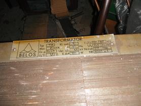 Transformator 10kVA 380/240V Belos typ T3A
