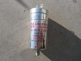 Kondensator 2uF 400V 50Hz Unitra Telpod KS-MP 1-2-400