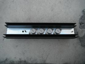 Radiator aluminiowy 52x30x260 mm do obudowy TO3 + 4x 2N3055