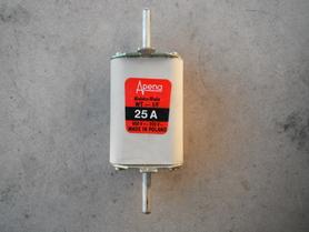 Wkładka topikowa nożowa bezpiecznik 25A Apena WT-1/F