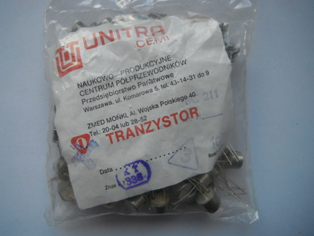 BC211 Tranzystor Unitra Cemi obudowa TO39  (1)