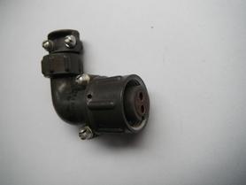 SzR16U2NSz5 Wtyczka kablowa kolankowa z 2 gniazdkami