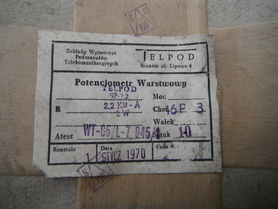Potencjometr TELPOD SP-2.2, 2.2kOhm-A 2W 16P-3