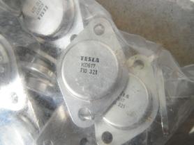 Tranzystor KD617 Tesla PNP 80V 10A 70W 2MHz TO3 parowane
